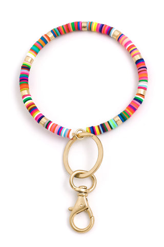Disc Beaded O Ring Keychain