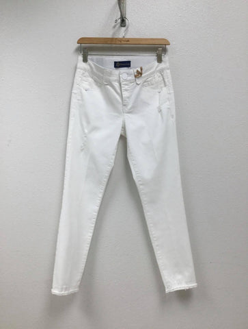 Democracy White Distressed Skinny