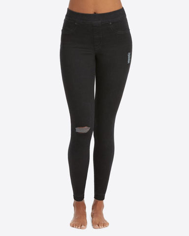 Black Vintage Distressed Ankle Skinny