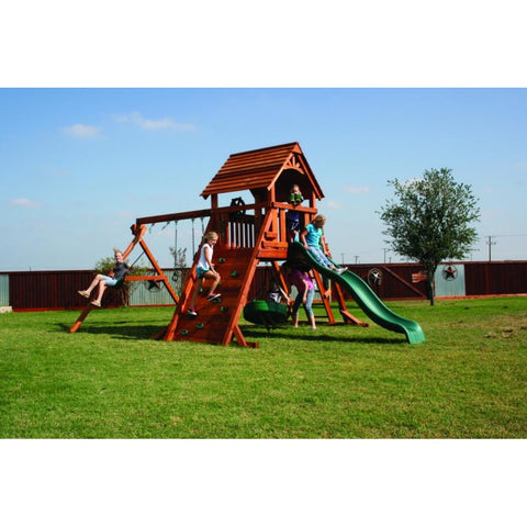 Fort Concho Redwood Play Set - WePlayAlot
