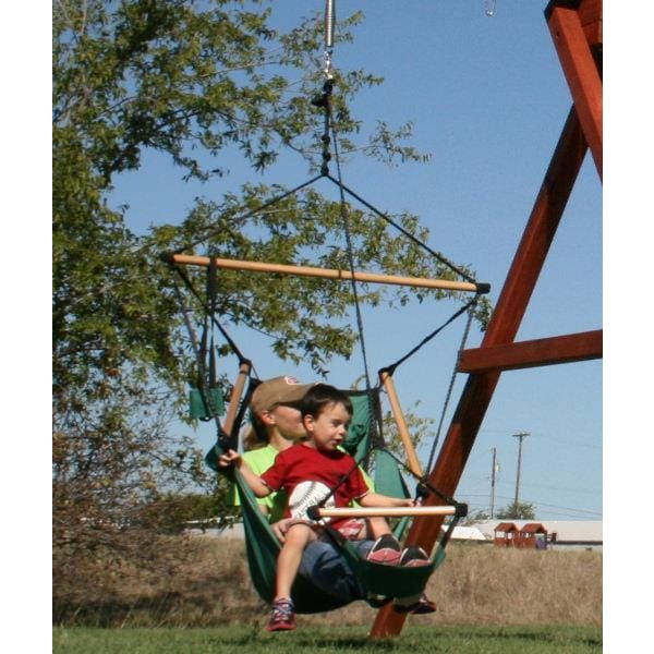 Air Chair Swing - Canvas Swing with Foot Rest - WePlayAlot