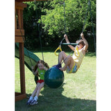Buoy Ball with Trapeze Bar and Rings - Children's Swing - WePlayAlot