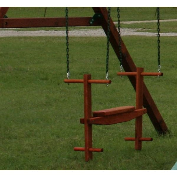 Children's Redwood Glider Swing - WePlayAlot