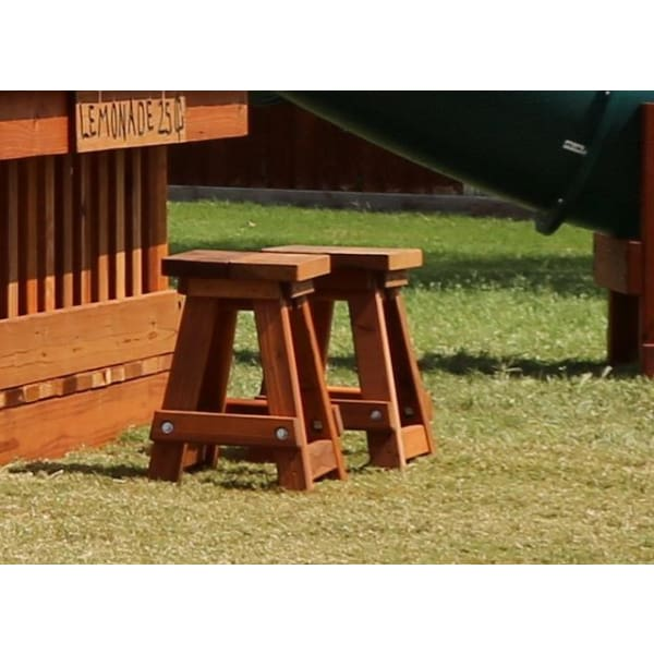 Children's Redwood Stool - Playset Accessory - WePlayAlot