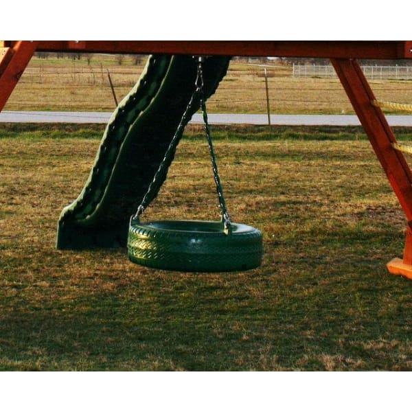 Green Plastic Tire Swing - WePlayAlot