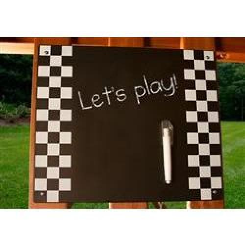 Kids Metal Chalkboard Kit - Checkered Borders - WePlayAlot