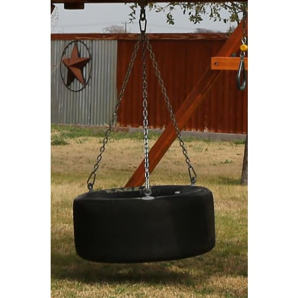Rubber Tire Swing for Backyard Playsets - WePlayAlot