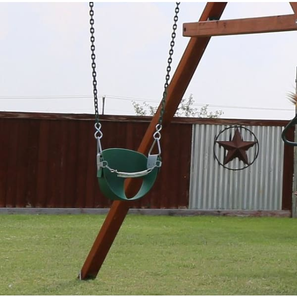 "Toddler Swing with 66"" Coated Chain - Green - WePlayAlot"