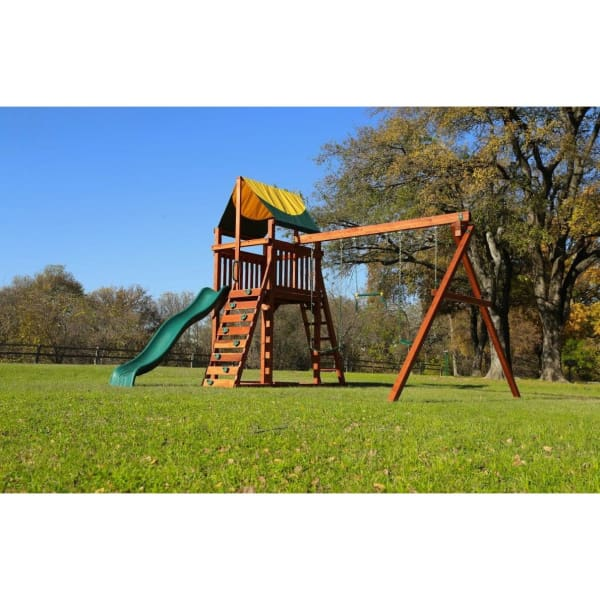 Wrangler Swing Set - Playset Tarp Roof - WePlayAlot