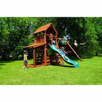 Wrangler Swing Set with Lower Porch Lower Corral - WePlayAlot