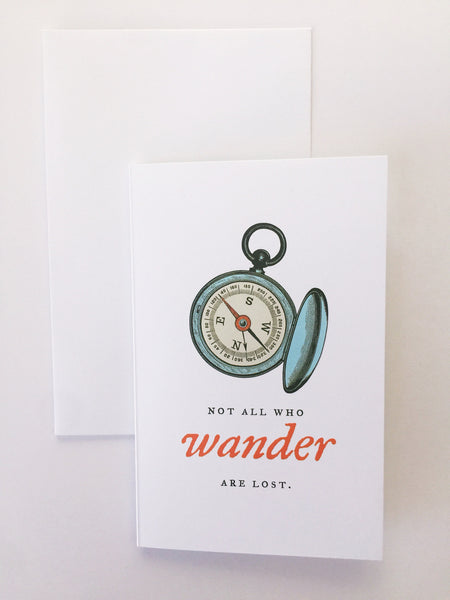 Breathless Paper Co | Not all that wander are lost