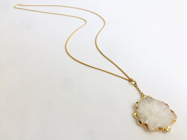 Larissa Loden | Golden Drusy Necklace