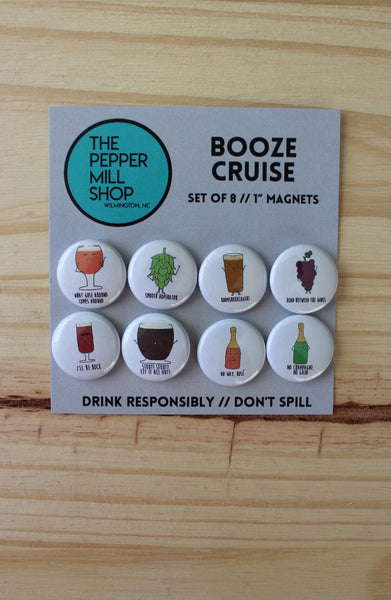 The Pepper Mill Shop | Booze Cruise Magnets