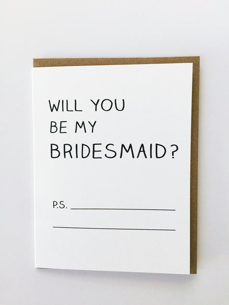 Mayd this way | Will you be my bridesmaid ?