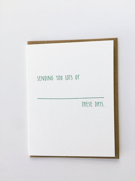 Mayd this way | Sending you lots of