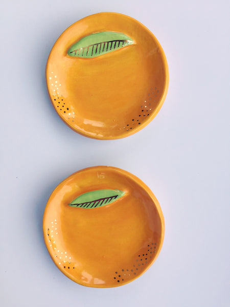 Line & Dot | Orange Trinket Dish