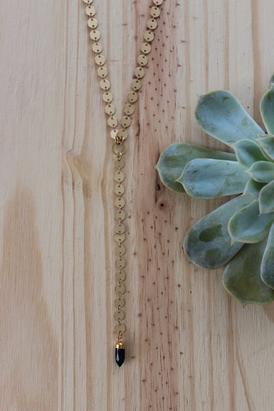 Larissa Loden | Circle Y Drop Necklace Jade