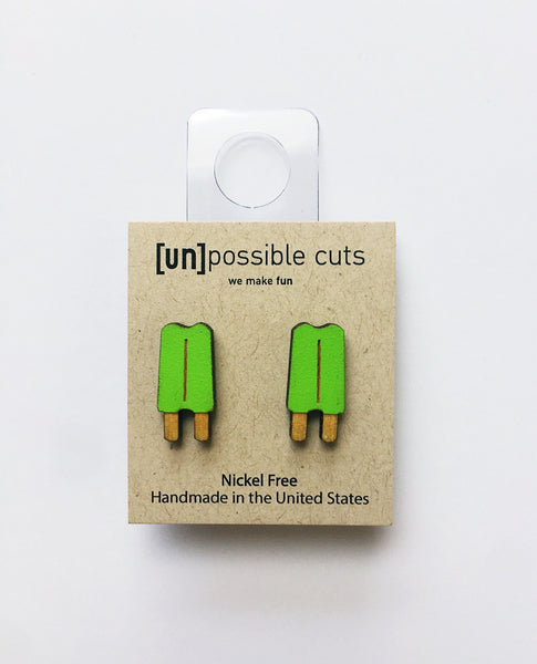 [un]possible cuts | Popsicle Earrings