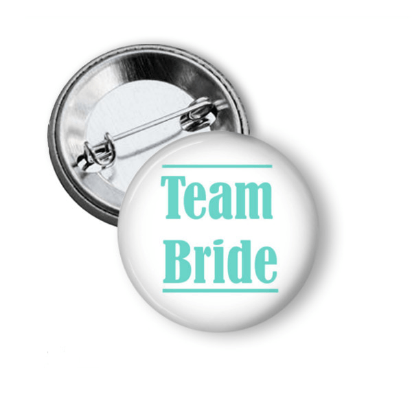 Team Bride button badge - badge-bliss