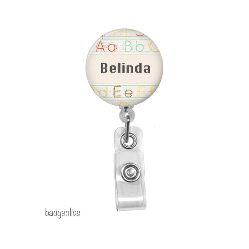 Teacher ID badge reel - Badge Bliss