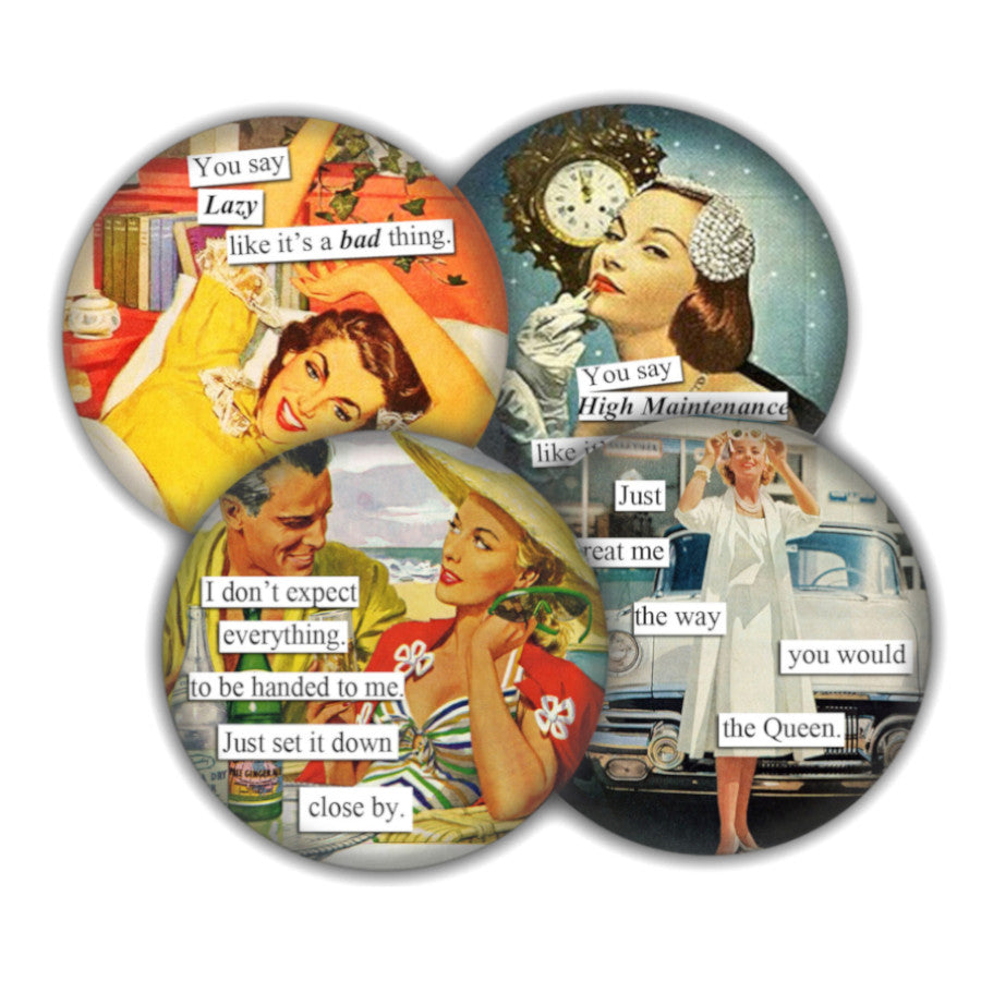 Ladies with Attitude coaster set