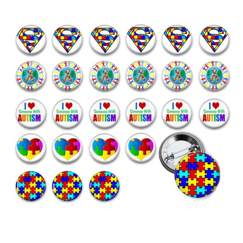 Autism awareness badges