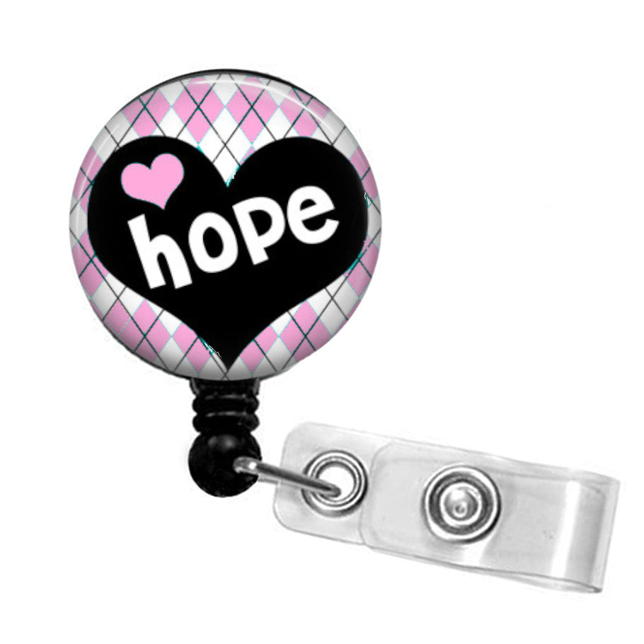 Breast Cancer ID badge reel