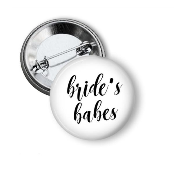 Bride Tribe hen party button badge