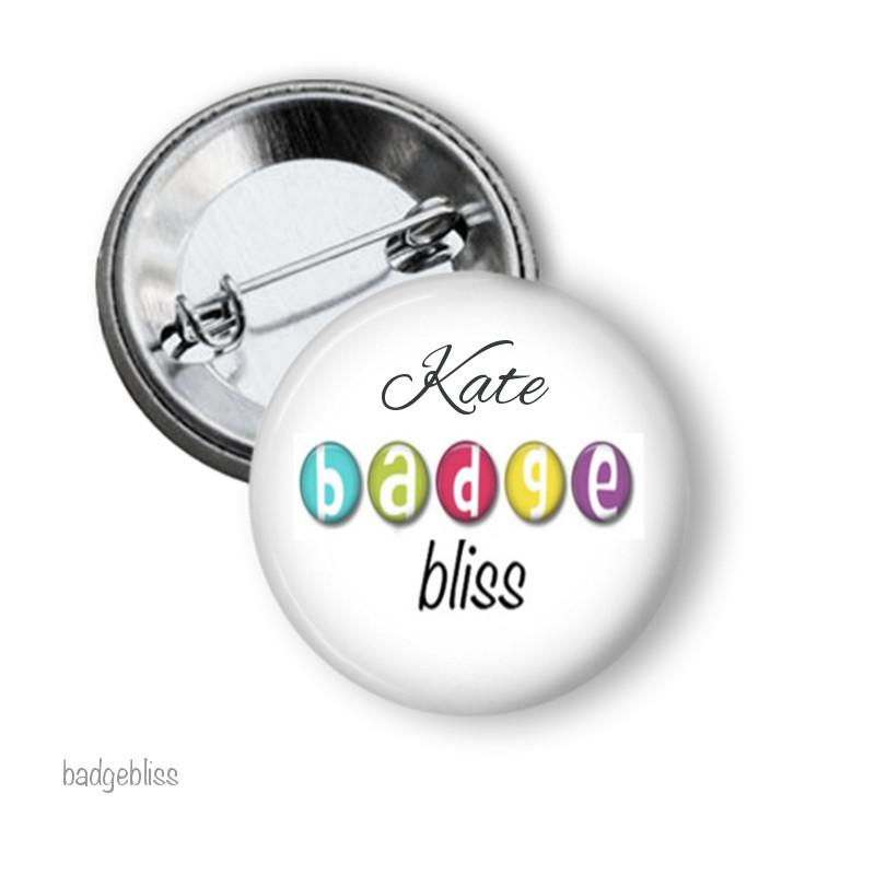 Custom button badge 2.5cm - badge-bliss