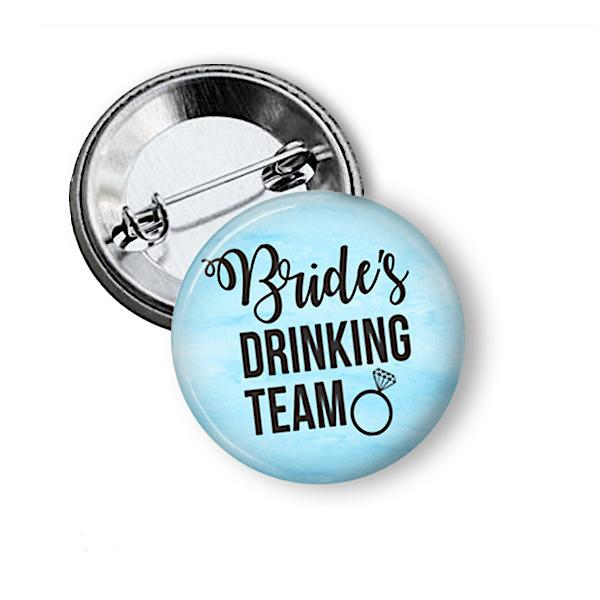 Hen party  badges Brides Drinking Team - badge-bliss