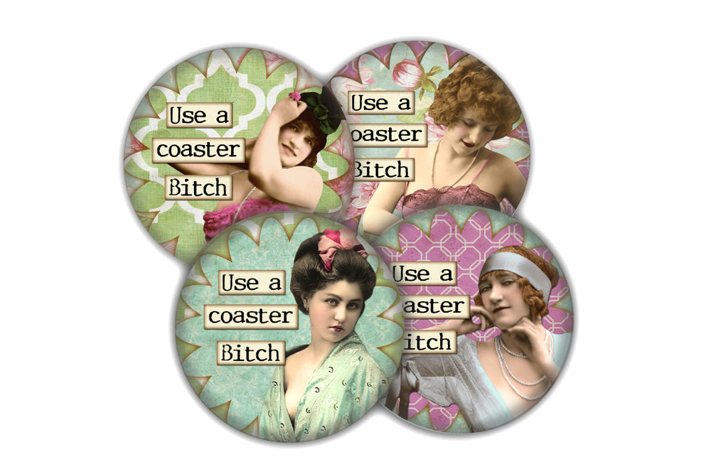 Use a Coaster drink coaster set