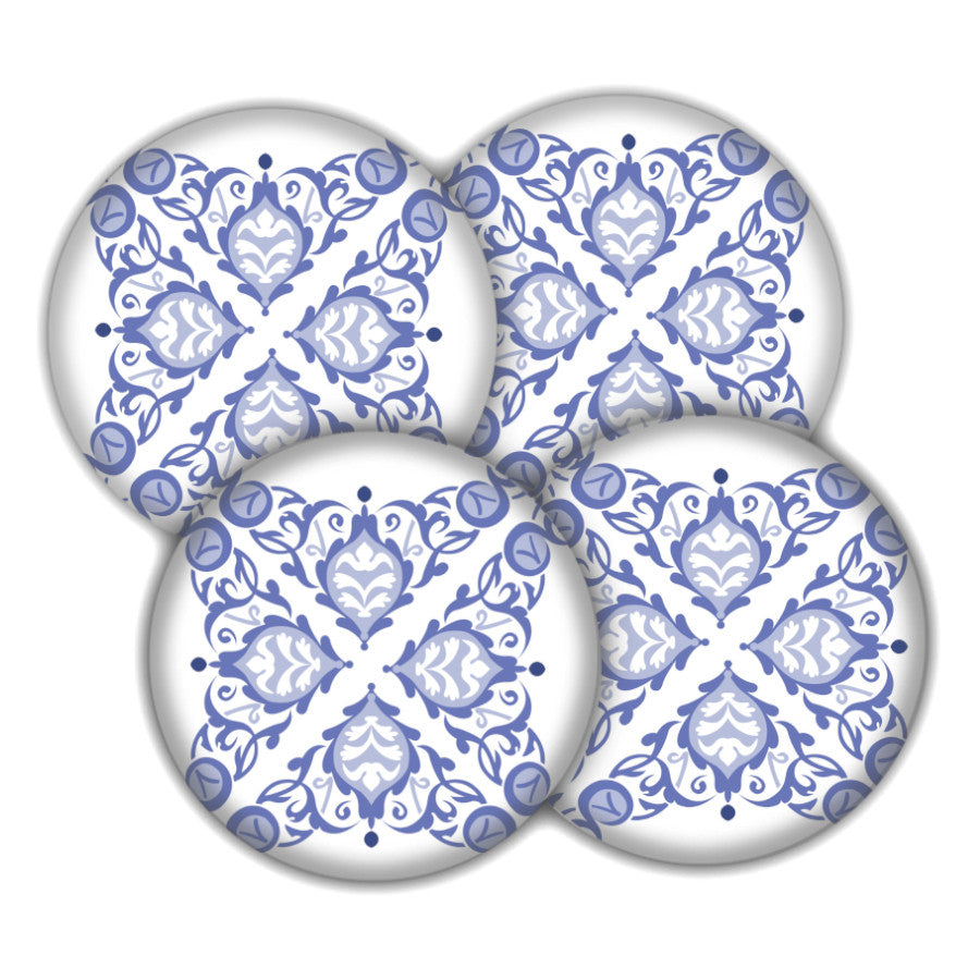 Blue and White coaster set