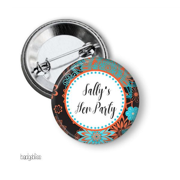 Boho Hen's party button badge - Badge Bliss