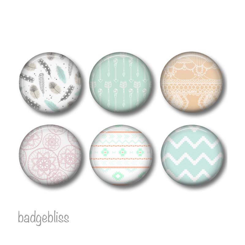 Custom fridge magnets 2.5 cm round - badge-bliss