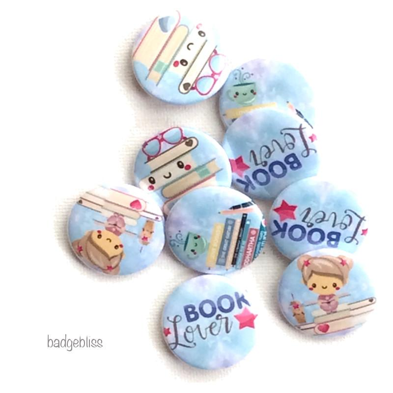 Booklover badges - Badge Bliss