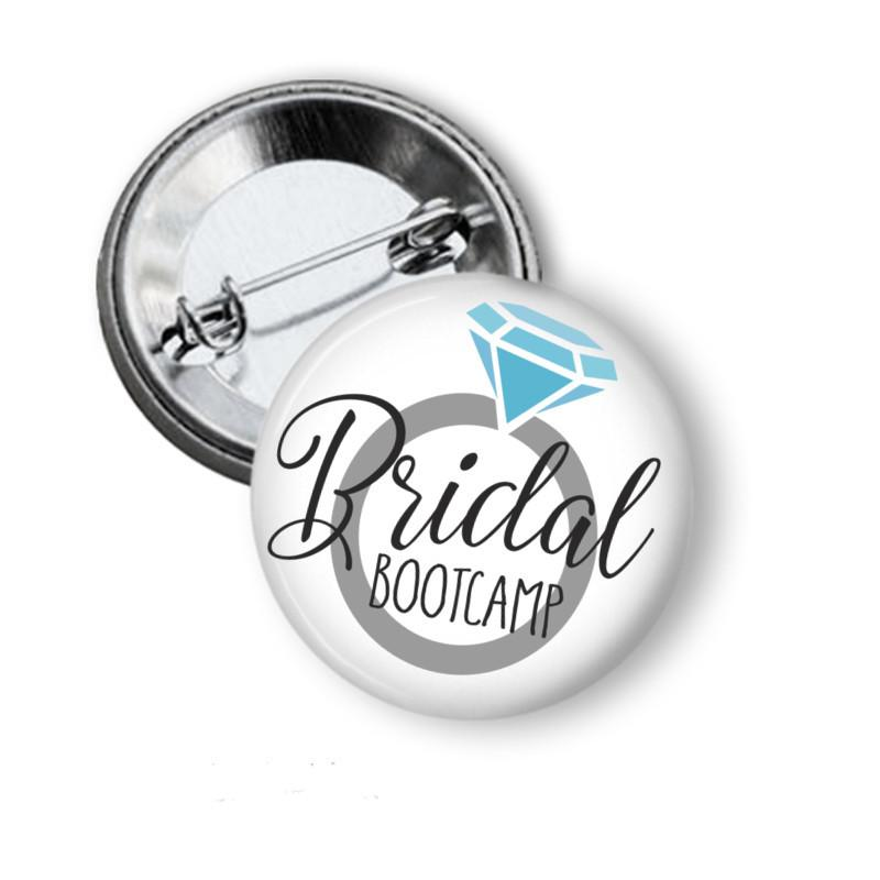 Bridal Bootcamp hens party badges - badge-bliss