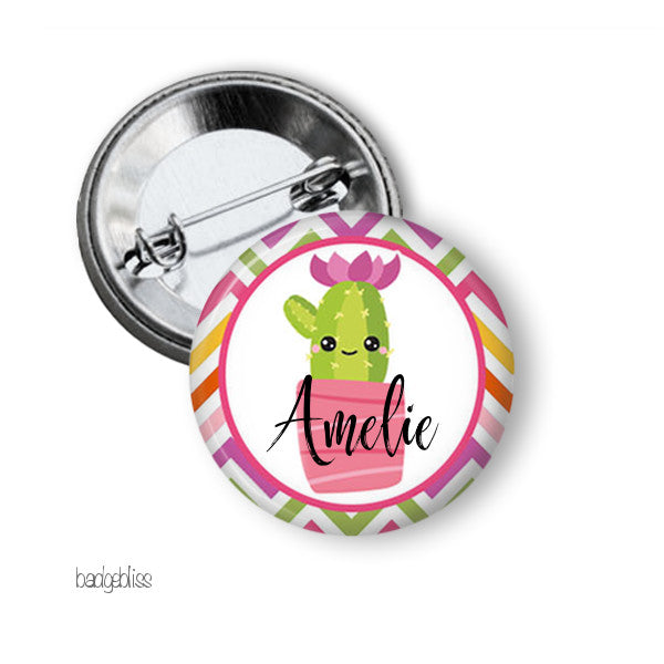 Cactus badge or fridge magnet - badge-bliss