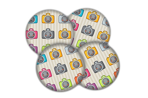 Button badge party pack Cameras