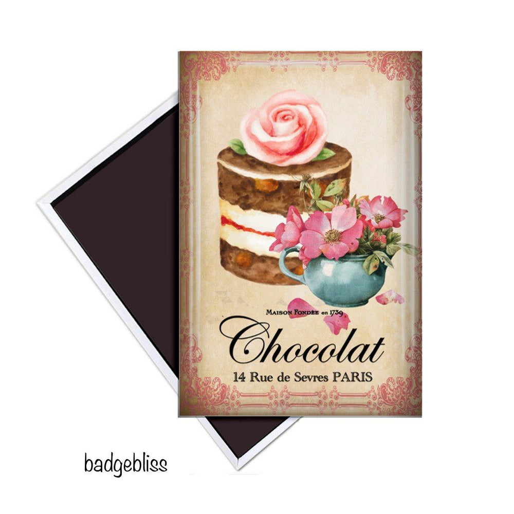 Chocolate fridge magnet - badge-bliss