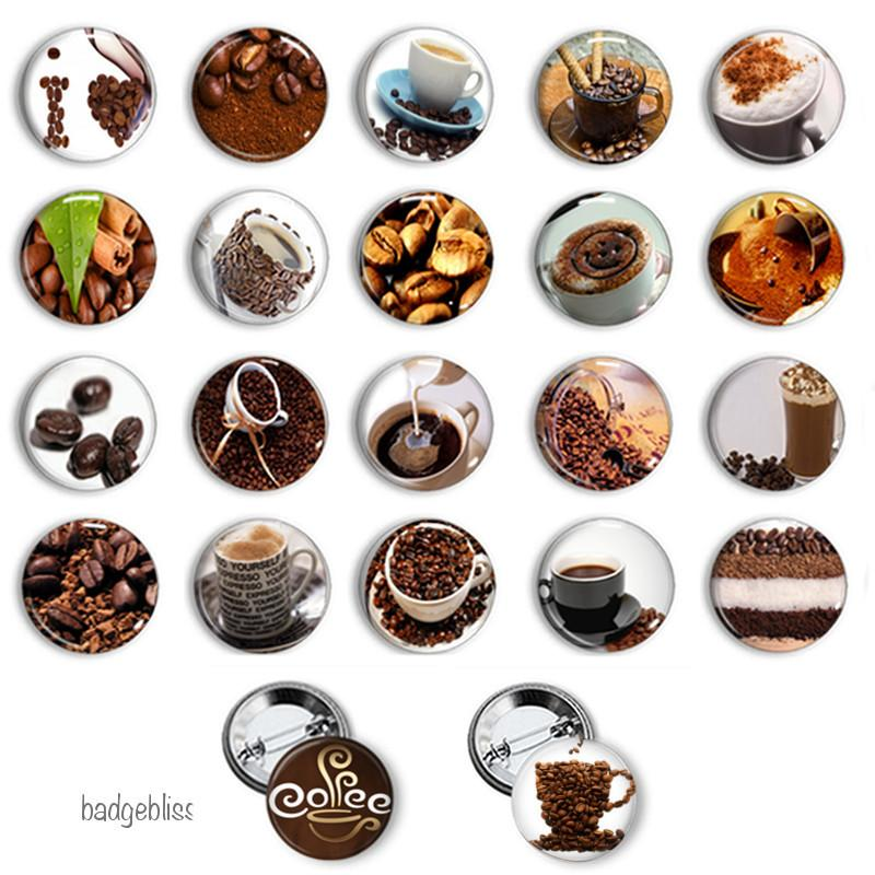 Coffee button badges - badge-bliss