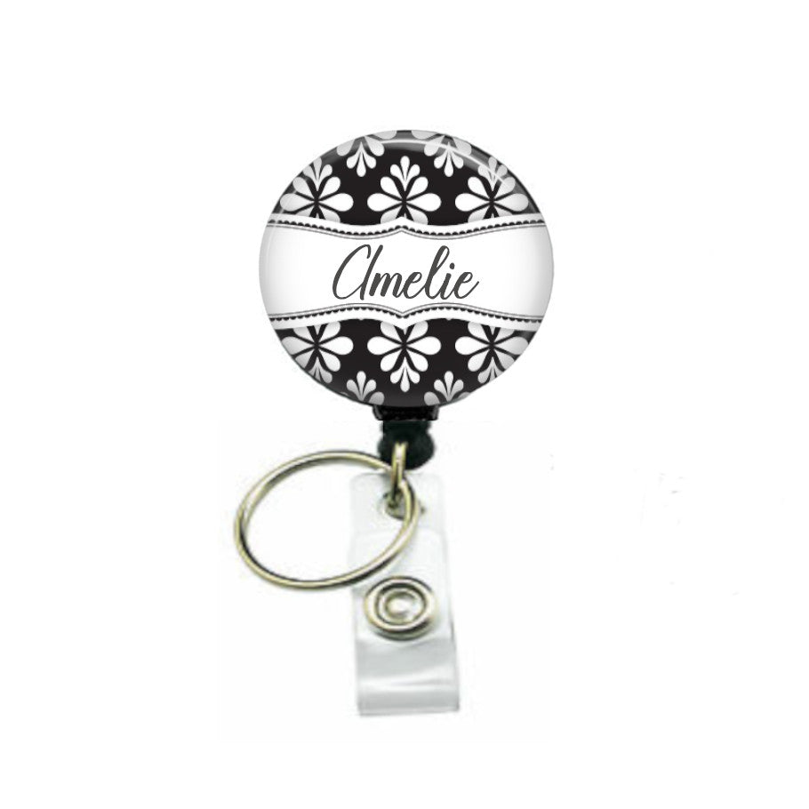 Custom ID badge reel with keyring