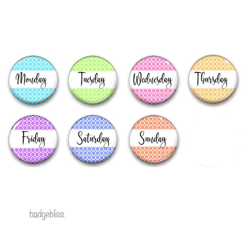 Days of the Week fridge magnets