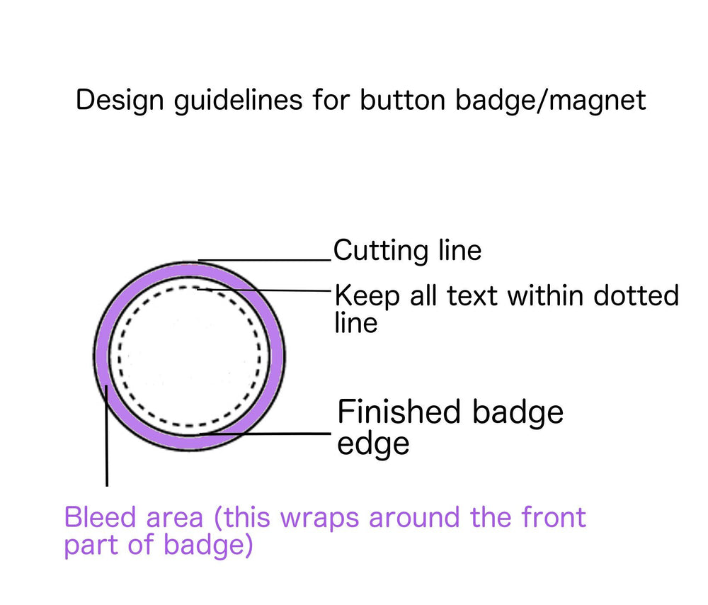 Custom badges 3.7cm round - Badge Bliss