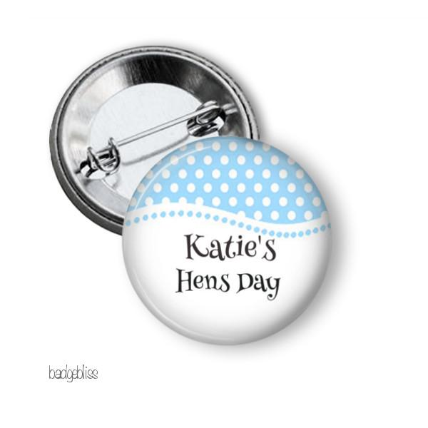 Hen party button badge Spots