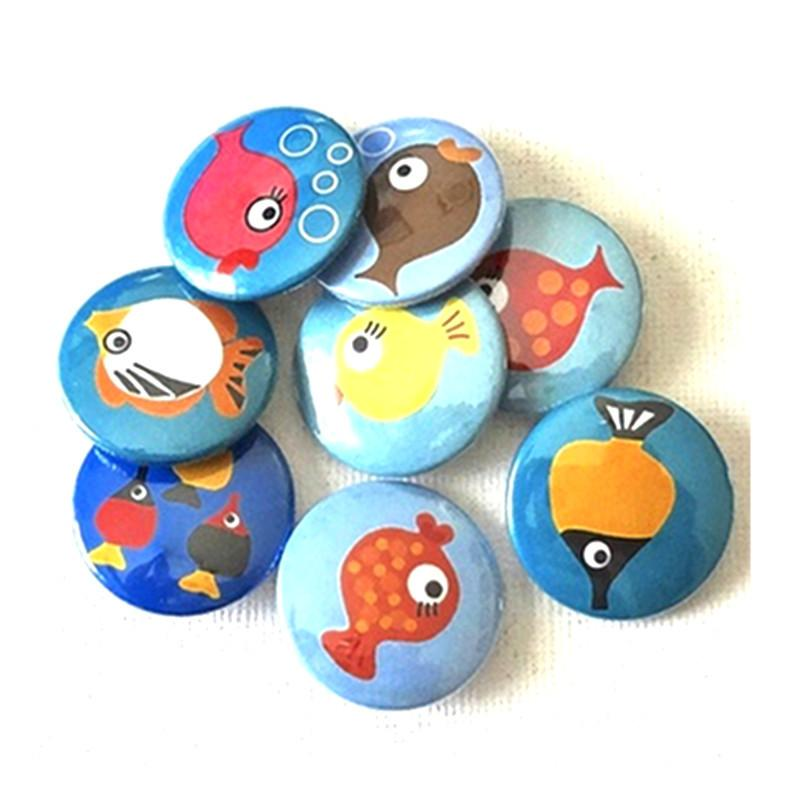 Button badge Fish - badge-bliss
