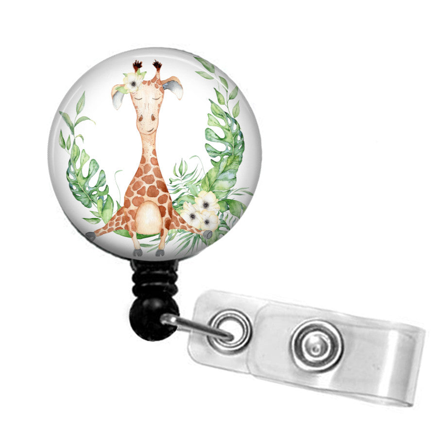 Cute Giraffe ID badge reel