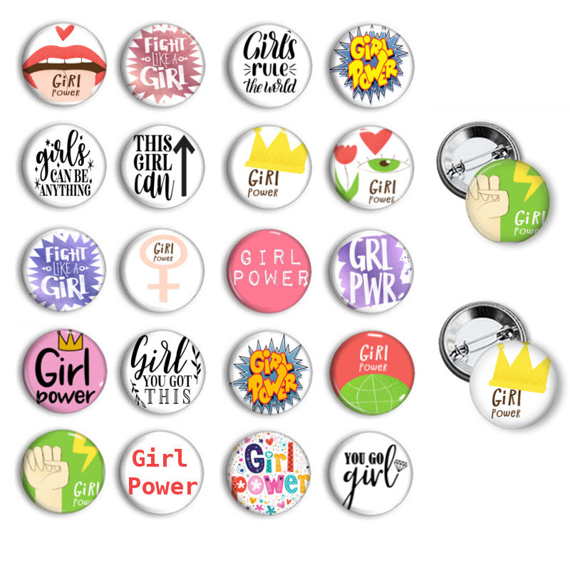 Girl Power button badges