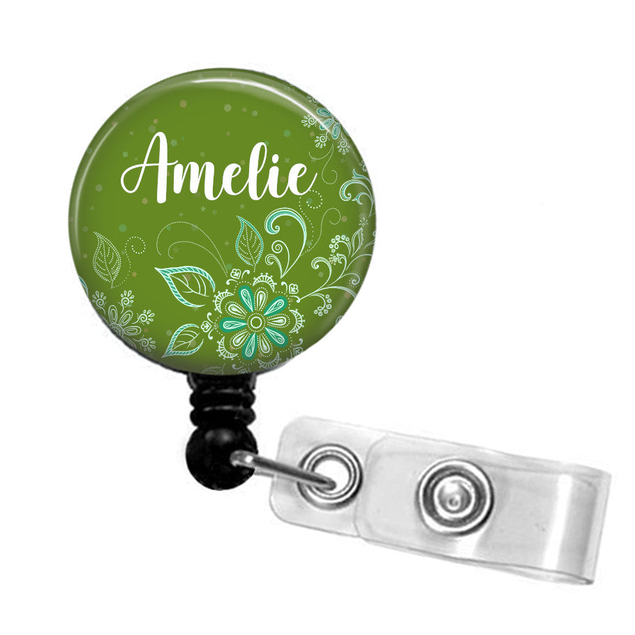 Personalised  ID badge reel.