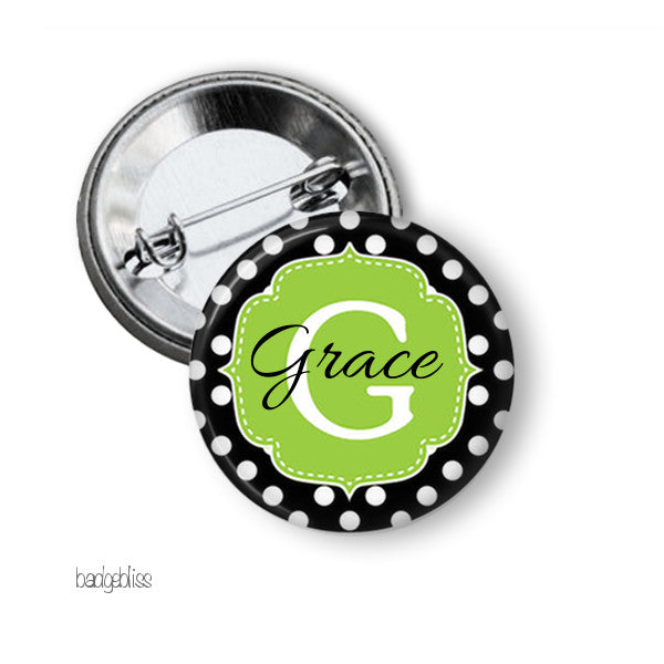 Alphabet button badge - badge-bliss