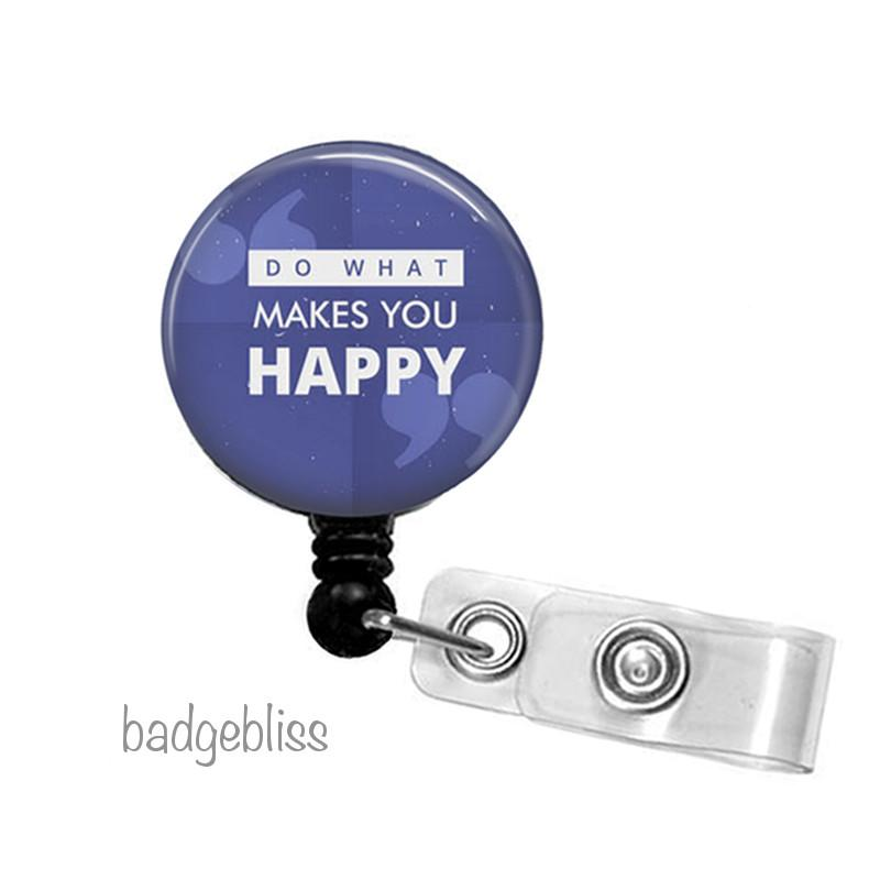 Happy ID badge reel, ID holder